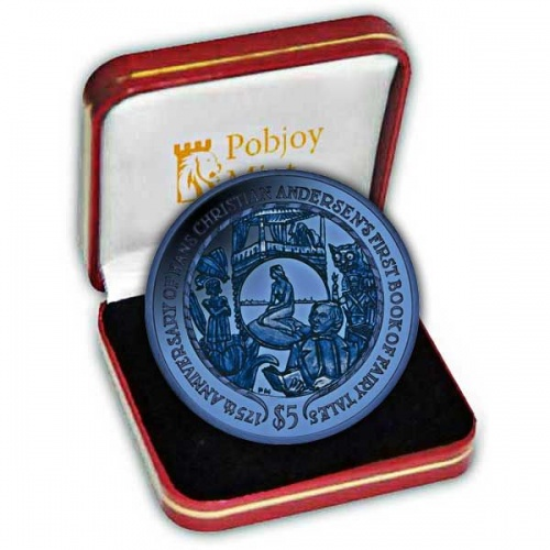The 2010 Hans Christian Andersens Fairytales 175 Years Two Colour Titanium Coin