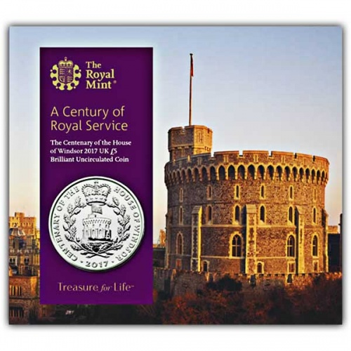 House Of Windsor Centenary 2017 UK £5 Brilliant Uncirculated Coin