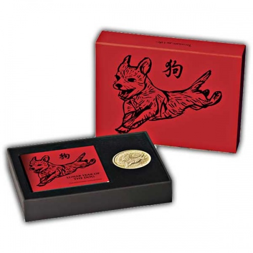 Lunar Year of the Dog 2018 UK Tenth-Ounce Gold Brilliant Uncirculated Coin