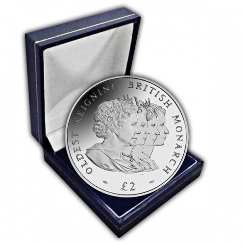 The 2008 Oldest Reigning Monarch Cupro Nickel Coin