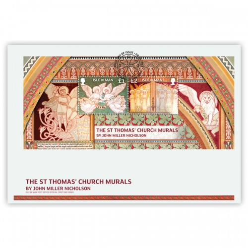 St Thomas' Mural Miniature Sheet First Day Cover