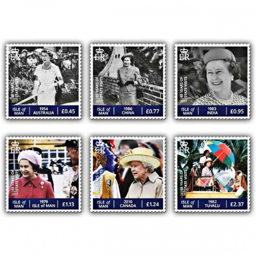 The Sapphire Jubilee - The Globetrotting Queen Set (Mint)