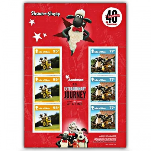 Aardman 40 Years of Creativity Shaun the Sheep Sheetlet (CTO)
