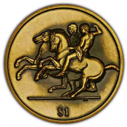 The 2010 Classical Sculptures - Elgin Marbles Bronze Coin