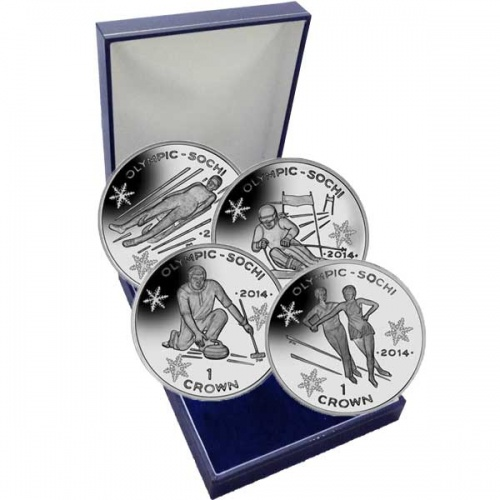 The 2014 Sochi Winter Olympic Silver 4 Coin Set