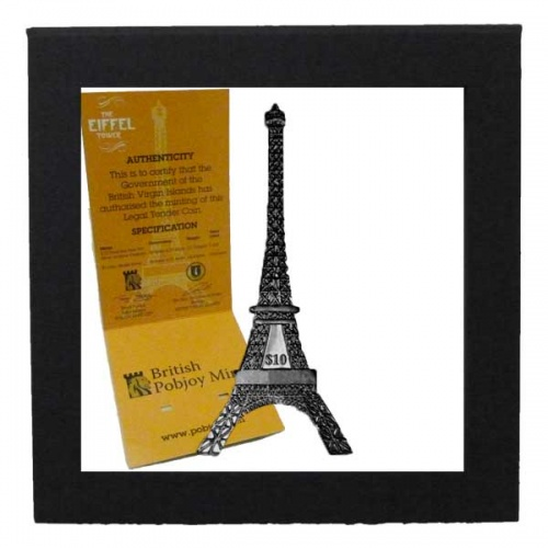 The 2014 125th Anniversary of the Eiffel Tower Silver Antique Finished Coin