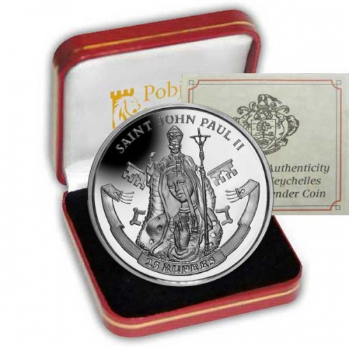 The 2014 Canonisation of His Holiness Pope John Paul II Silver Coin