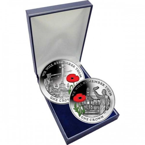 The 2014 Centenary of World War I Cupro Nickel Two Coin Colour Set