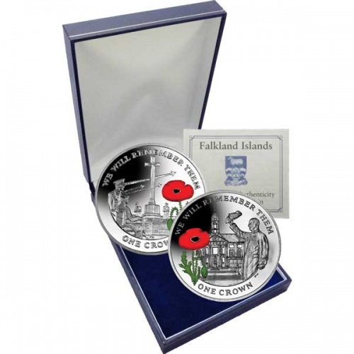 The 2014 Centenary of World War I Silver Two Coin Colour Set