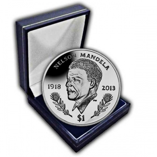The 2014 Nelson Mandela Commemorated Cupro Nickel Coin