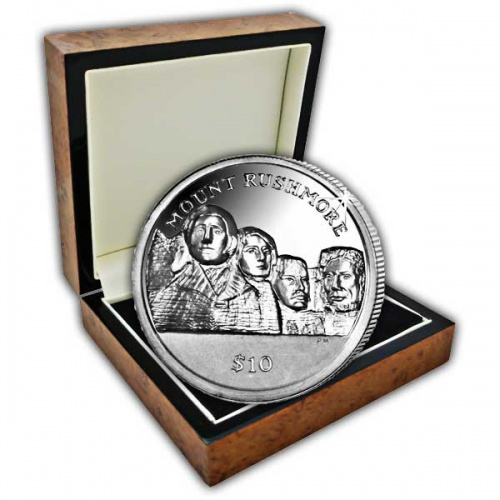 The 2015 Mount Rushmore Ultra High Relief Silver Coin