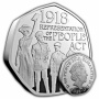 1918 Representation of the People Act 2018 UK 50p Silver Proof Piedfort Coin