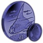 The Manta Ray 2018 Blue Titanium Coin
