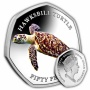 The Hawksbill Turtle 2019 50p Cupro Nickel Coloured Coin