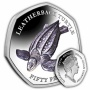 The Leatherback Turtle 2019 50p Cupro Nickel Coloured Coin