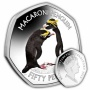 The Macaroni Penguin 2019 50p Cupro Nickel Coloured Coin