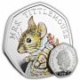Mrs Tittlemouse 2018 UK 50p Silver Proof Coin