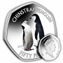 The Chinstrap Penguin 2019 50p Cupro Nickel Coloured Coin