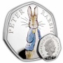 Peter Rabbit 2019 UK 50p Silver Proof Coin