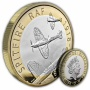 RAF Centenary Spitfire 2018 UK £2 Silver Proof Piedfort Coin