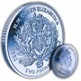 The 2017 Queen's Sapphire Jubilee Royal Crest Blue Titanium Coin