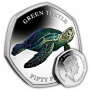 The Green Turtle 2019 50p Cupro Nickel Coloured Coin