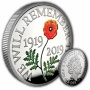 The Remembrance Day 2019 UK £5 Silver Proof Piedfort Coin