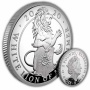 The Queen's Beasts The White Lion of Mortimer 2020 UK One Ounce Silver Proof Coin