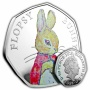Flopsy Bunny 2018 UK 50p Silver Proof Coin