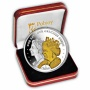 The 2016 Queens 90th Birthday High Relief Silver Coin with Gold Plate and Diamonds