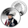 The 2016 Queens Order of the Garter Portrait Coloured Silver Coin