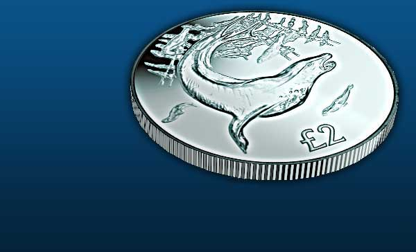 The Leopard Seal Titanium Coin
