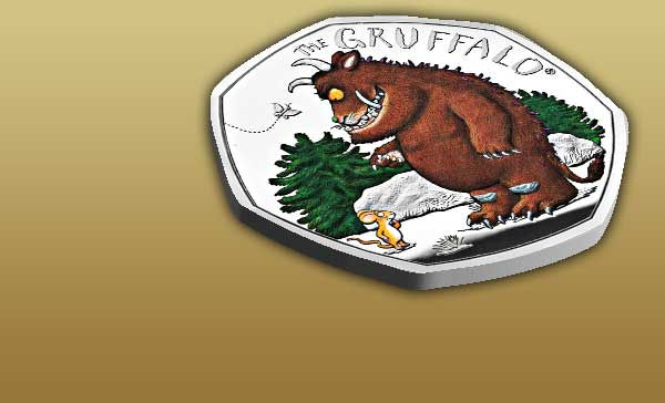 The Gruffalo and Mouse 50p Coin