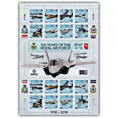 100 Years of the Royal Air Force Commemorative Sheetlet CTO