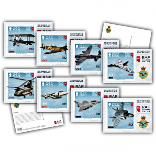 100 Years of the Royal Air Force Stamp Cards