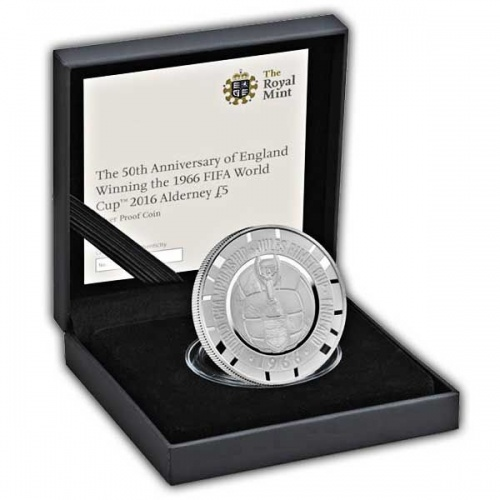 The 1966 FIFA World Cup £5 Silver Proof Coin