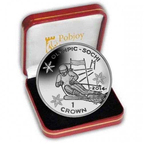 The 2013 Winter Olympic Skiing Silver Coin