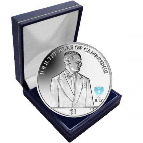 Prince George's Christening 2013 Duke of Cambridge Coloured Cupro Nickel Coin