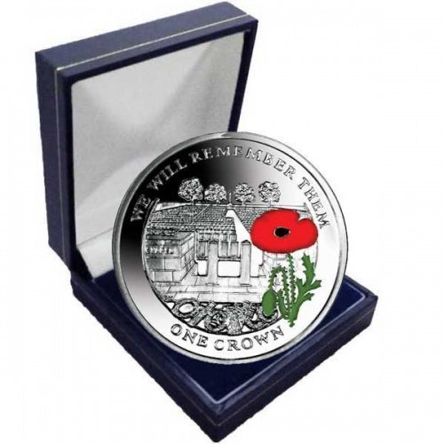Centenary of World War I 2014 Cemetery of the Somme Coloured Cupro Nickel Coin