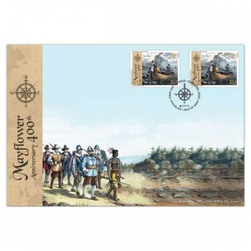 The 400th Anniversary of the Mayflower Europa First Day Cover