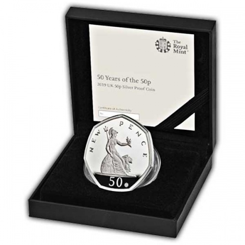 50 Years of the 50p 2019 UK 50p Silver Proof Coin