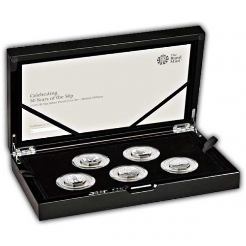 50 years of the 50p - Silver Proof Coin Set - Military