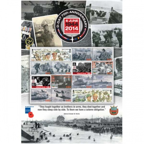 70th Anniversary of D-Day CTO Commemorative Sheet
