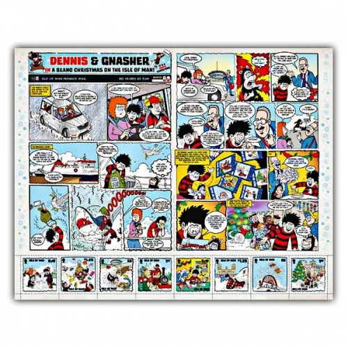 A Beano Christmas Comic Sheetlet