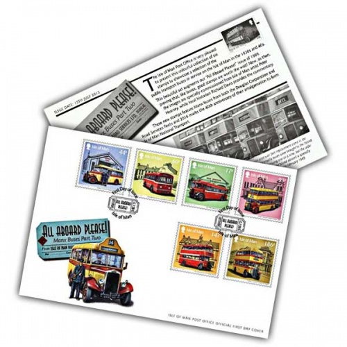 All Aboard Please! Manx Buses Part Two First Day Cover