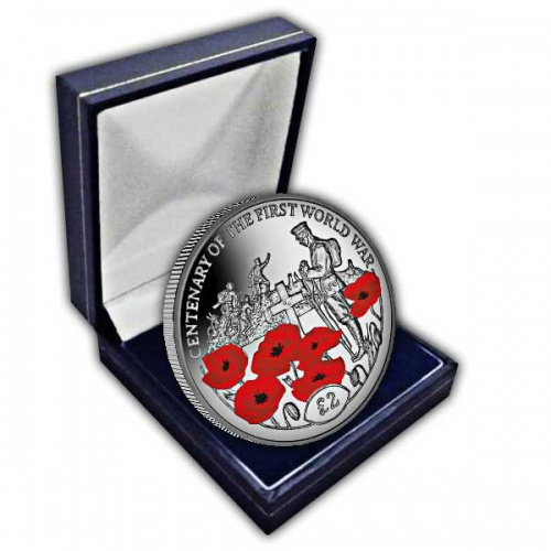 Centenary of the First World War: Tomb of the Unknown Soldier 2018 Cupro Nickel Coloured Coin