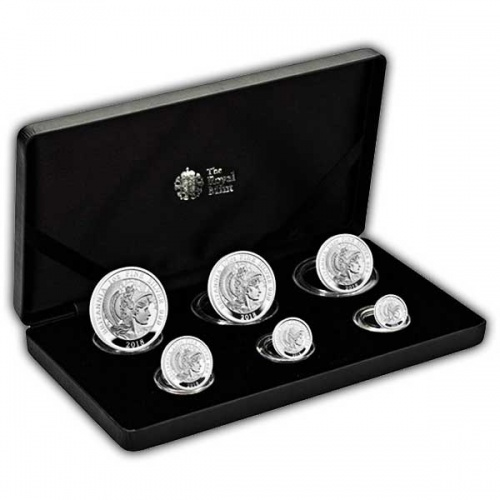 Britannia 2018 UK 6-Coin Silver Proof Set