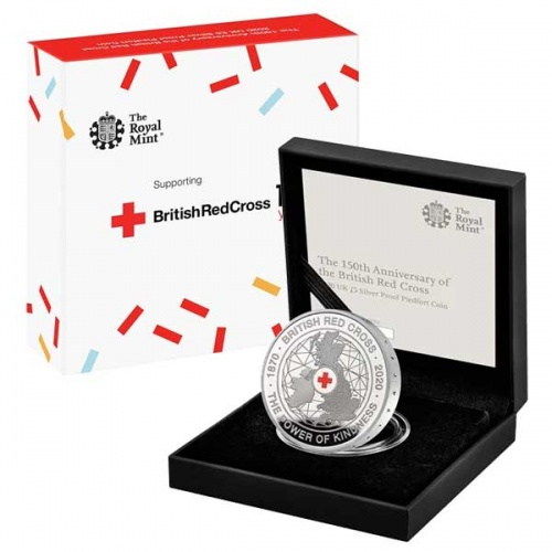 British Red Cross 2020 UK £5 Silver Proof Piedfort Coin