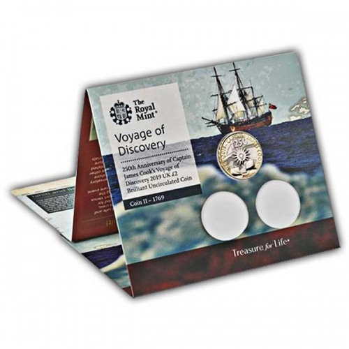Captain Cook 2019 £2 Brilliant Uncirculated Coin