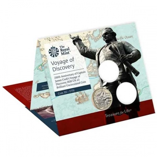 Captain Cook 2020 £2 Brilliant Uncirculated Coin